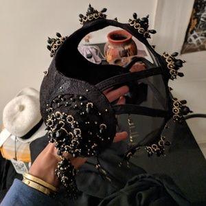 eb7036af8fd Accessories - Leather Head piece w  black jewels
